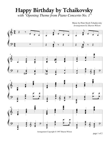 Happy Birthday by Tchaikovsky (Piano Solo)