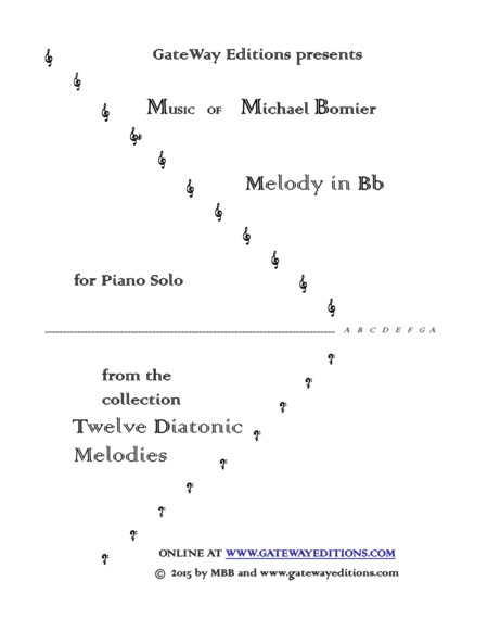 Melody in Bb from 12 Diatonic Melodies