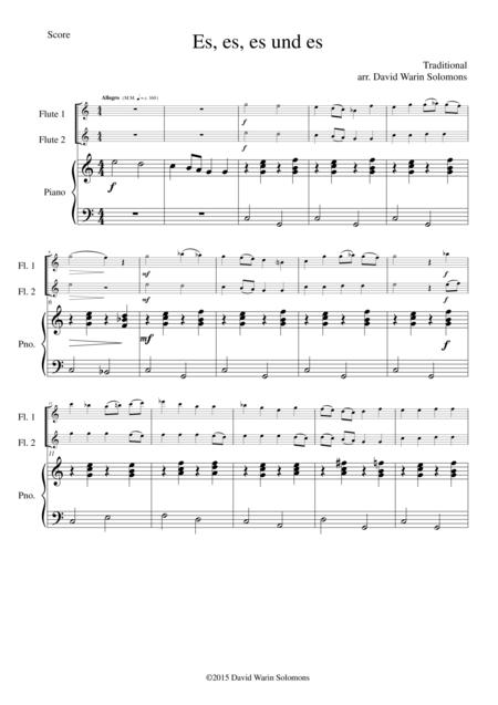 Es es es und es for 2 flutes and piano