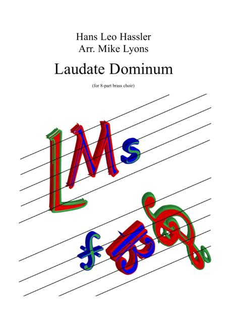 Laudate Dominum - Hans Leo Hassler (8-part brass choir)