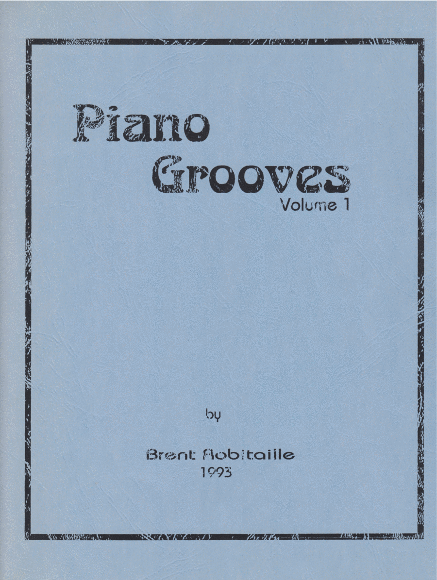 Piano Grooves - Volume One