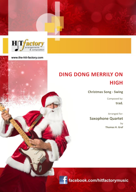 Ding dong merrily on high - Swing - Saxophone Quartet