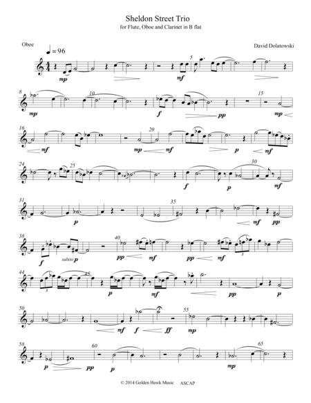 Sheldon Street Trio Oboe part