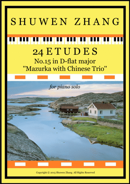 24 Etudes-No.15 in D-flat major-'Mazurka with Chinese Trio''