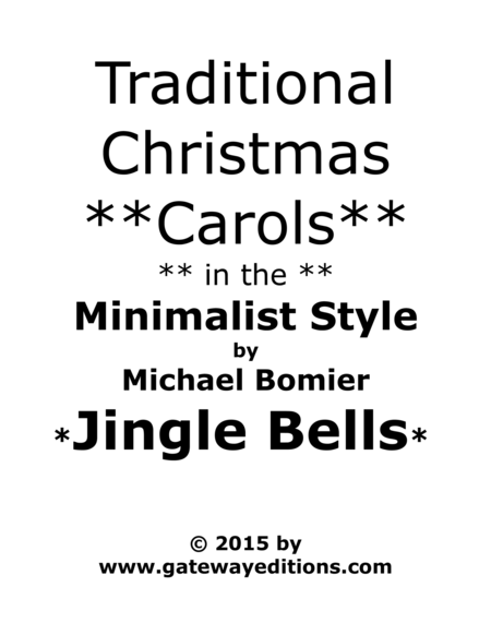 Jingle Bells from Traditional Christmas Carols in Minimalist Style