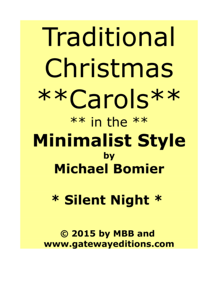 Silent Night from Traditional Christmas Carols in Minimalist Style