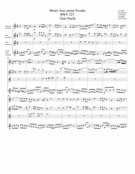 Gute Nacht from Motet: Jesu, meine Freude, BWV 227
