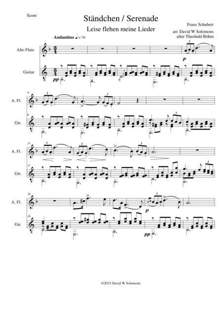 Ständchen (Serenade) for alto-flute and guitar after Theobald Böhm