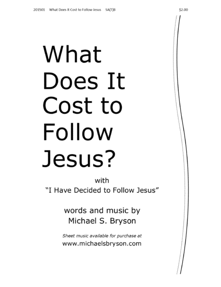 What Does It Cost to Follow Jesus?
