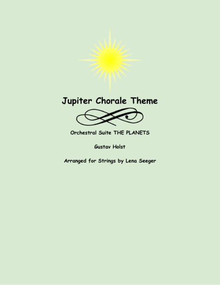 Jupiter Chorale Theme (two violins and cello)