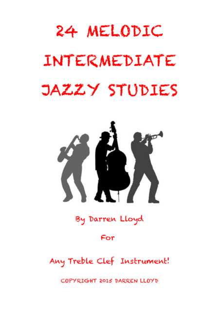 24 melodic jazz studies for any treble clef instrument
