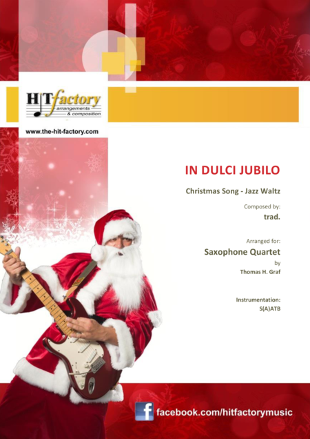 In dulci jubilo - Christmas Song - Jazz Waltz - Saxophone Quartet