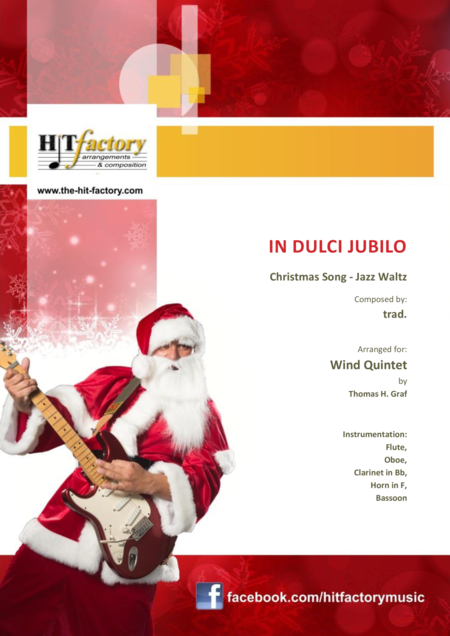 In dulci jubilo - Christmas Song - Jazz Waltz - Wind Quintet