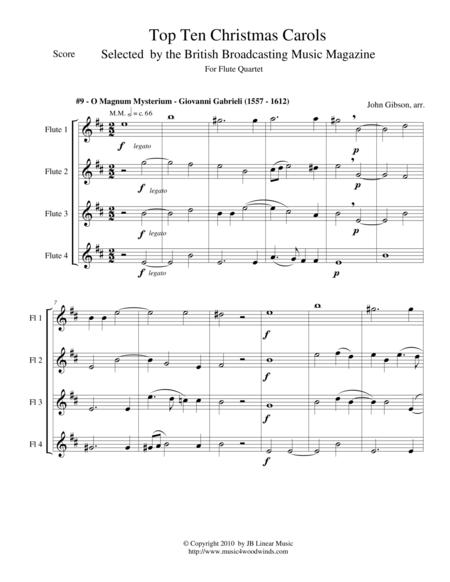 O Magnum Mysterium - Gabrieli - for flute quartet