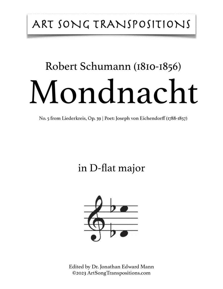 Mondnacht, Op. 39 no. 5 (D-flat major)