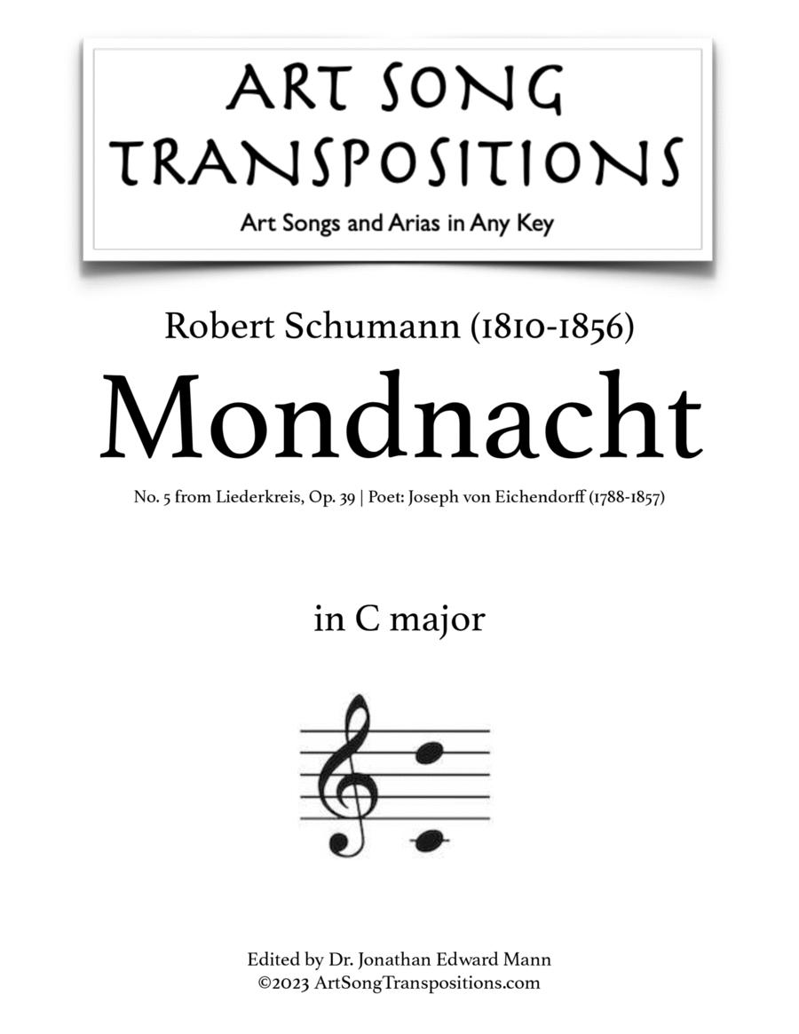 Mondnacht, Op. 39 no. 5 (C major)