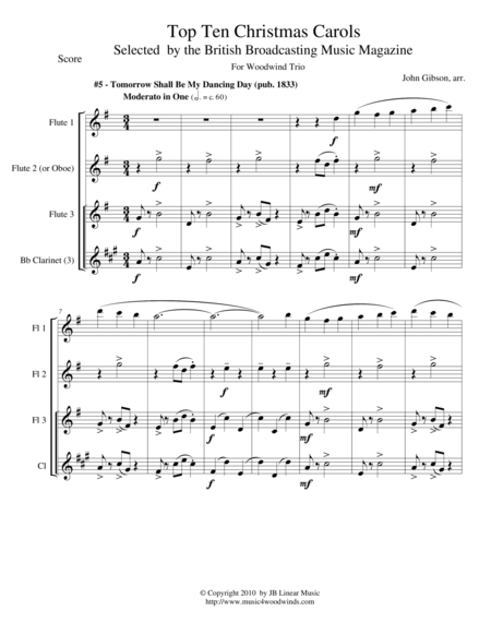 My Dancing Day for Woodwind Trio - flexible instrumentation