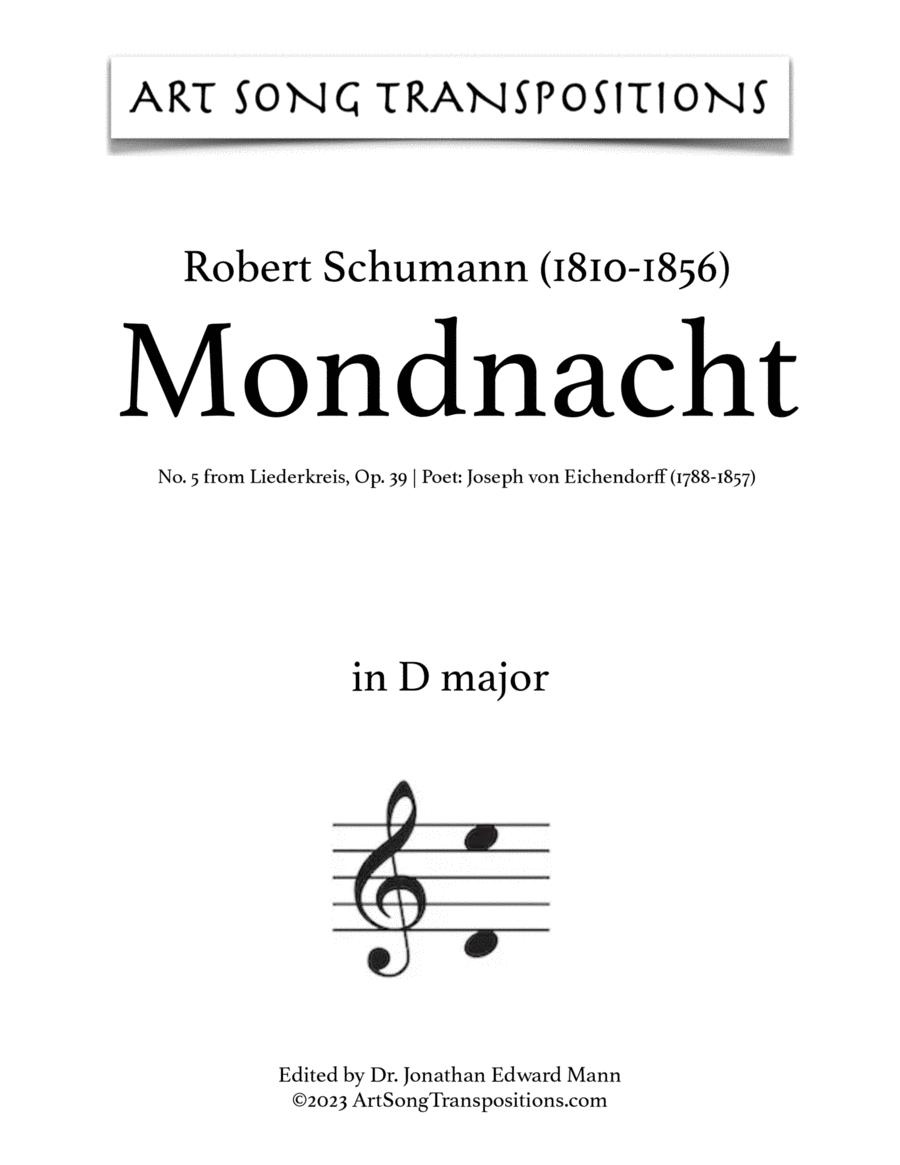 Mondnacht, Op. 39 no. 5 (B-flat major)