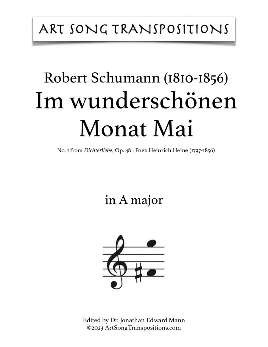 Im wunderschönen Monat Mai, Op. 48 no. 1 (A major)