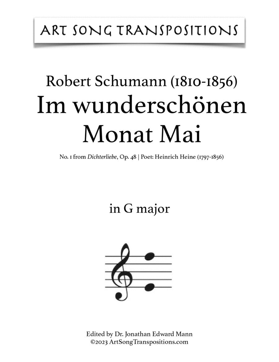 Im wunderschönen Monat Mai, Op. 48 no. 1 (G major)