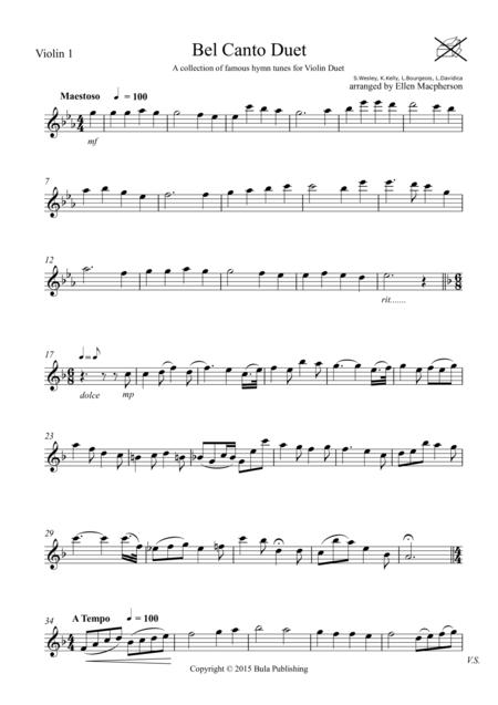 Bel Canto Violin Duet