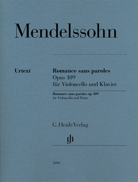 Romances sans paroles, Op. 109