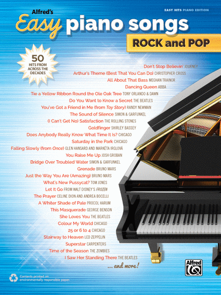 Alfred's Easy Piano Songs -- Rock & Pop