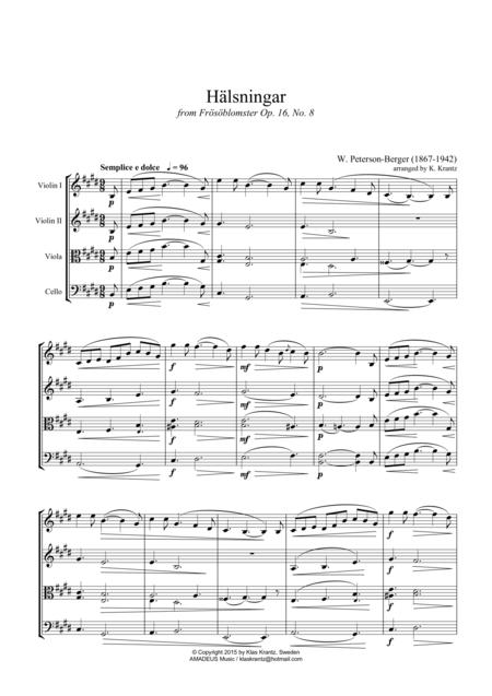 Hälsningar for string quartet