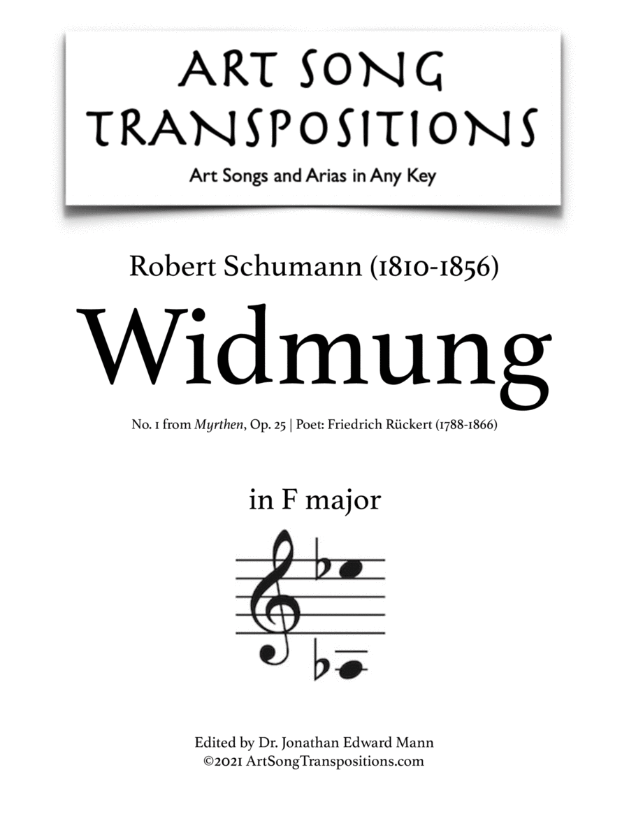 Widmung, Op. 25 no. 1 (F major)