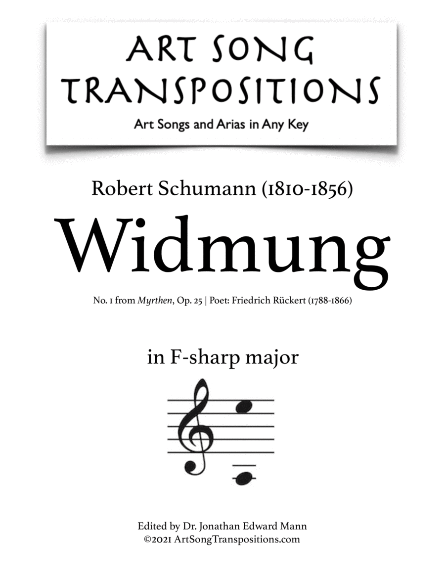 Widmung, Op. 25 no. 1 (F-sharp major)