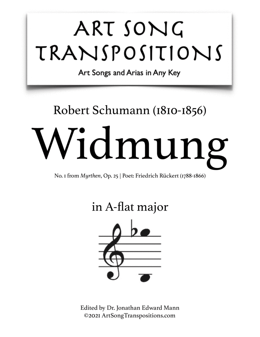Widmung, Op. 25 no. 1 (A-flat major)