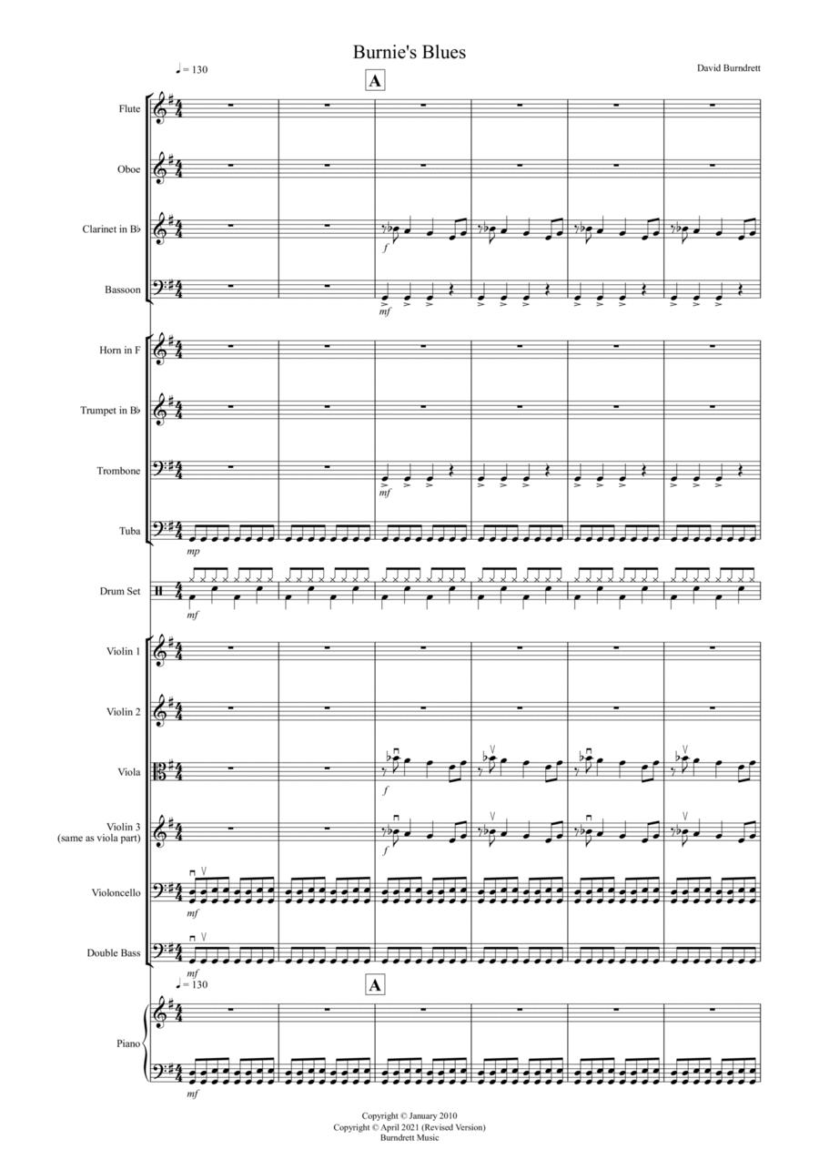 Burnie's Blues for School Orchestra