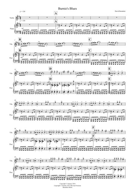 Burnie's Blues for Violin and Piano