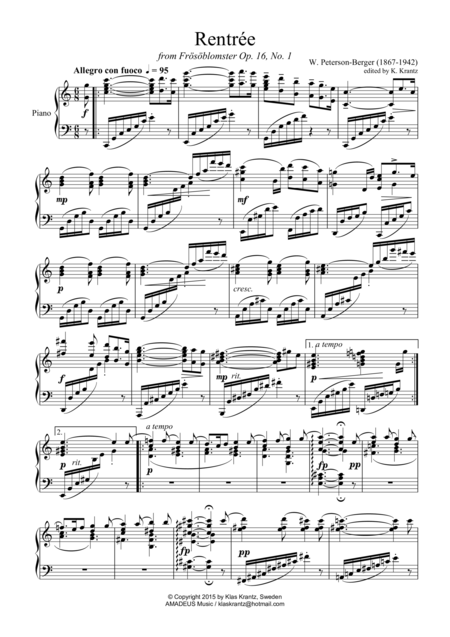 Rentrée for piano solo
