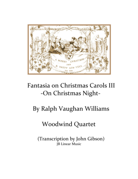 Vaughn Williams - On Christmas Night - Woodwind Quartet