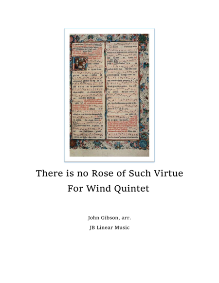Rose of Such Virtue - Wind Quintet Christmas Music