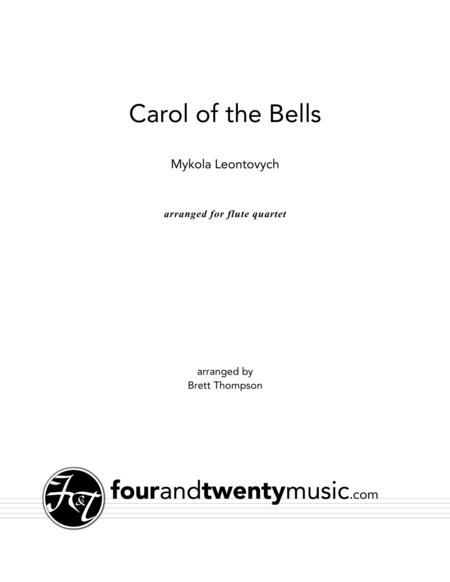 Carol of the Bells, for flute quartet
