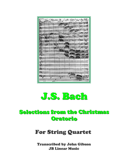 Bach - Christmas Oratorio Selections - String Quartet
