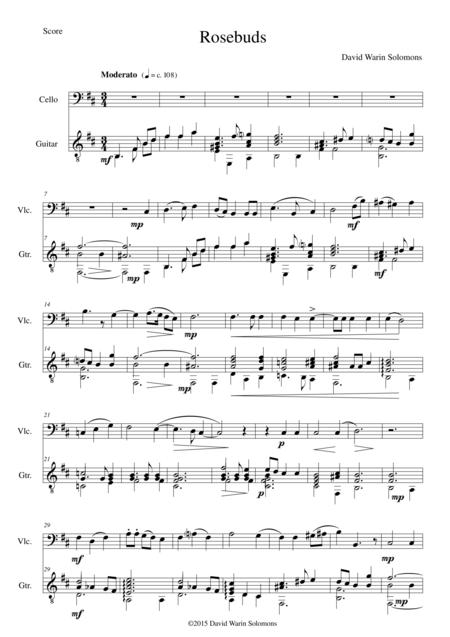 Rosebuds for cello and guitar
