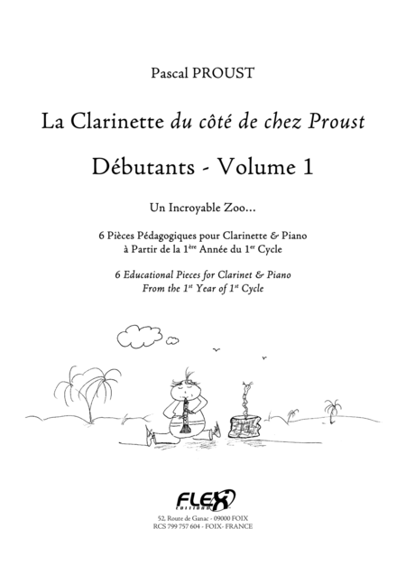 The Clarinet du cote de chez Proust - Beginners - Volume 1