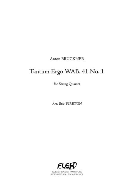 Tantum Ergo WAB. 41 No. 1