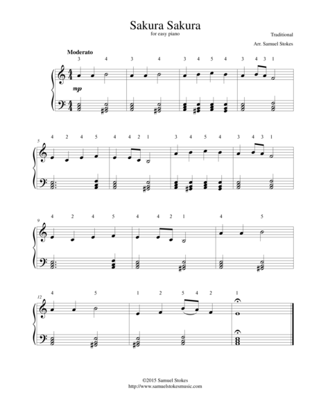 Sakura Sakura - for easy piano