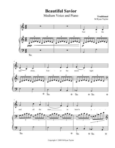 Beautiful Savior : Medium Voice and Piano