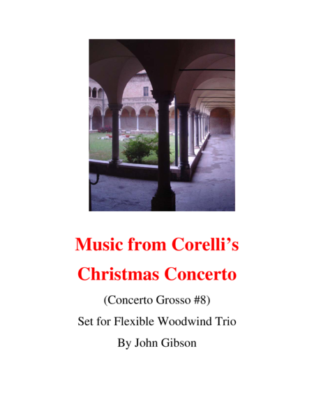 Corelli - from the Christmas Concerto - woodwind trio (flexible instrumentation)