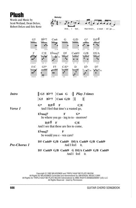 Download Plush Sheet Music By Stone Temple Pilots Sheet Music Plus