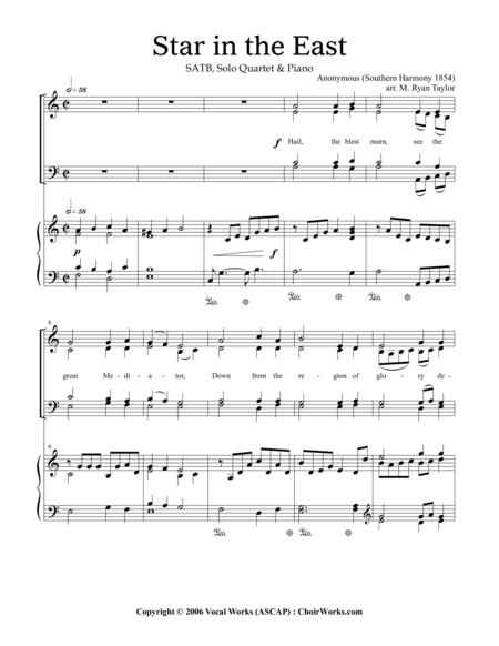 Star in the East : SATB Choir and Piano