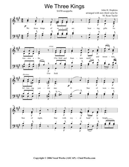 Harmonica harmonica tabs we three kings : Download We Three Kings : SATB Acapella Sheet Music By Traditional ...