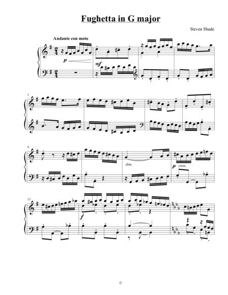 Fughetta in G major