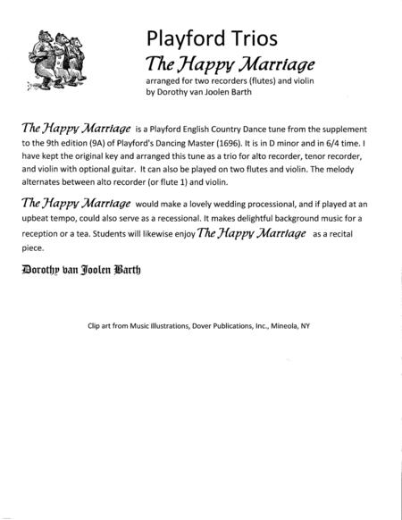 Playford Trios: The Happy Marriage