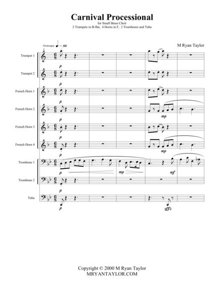 Carnival Processional : Brass Choir (2, 4, 2, 1)